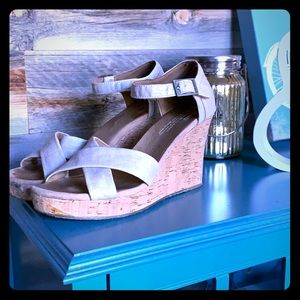 Toms wedge  Sandals size 8.5